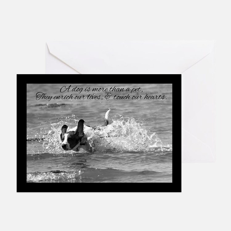 Pet Dog Sympathy Card - Touch Our Heart (Pk of 20)