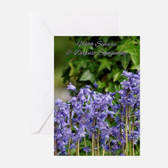 Sympathy Card With Wild Bluebells (Pk of 10)