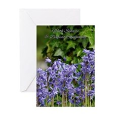 Sympathy Card With Wild Bluebells