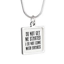 Funny Designs Silver Square Necklace