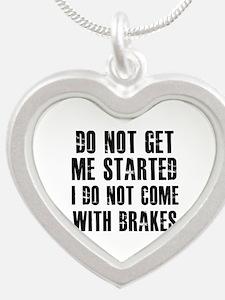 Funny Designs Silver Heart Necklace