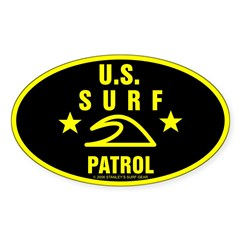 U.S. SURF PATROL Oval Decal