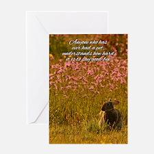 Pet Sympathy Card - Loss Of Pet Rabbit