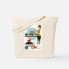 Backyard Farm Girl Tote Bag