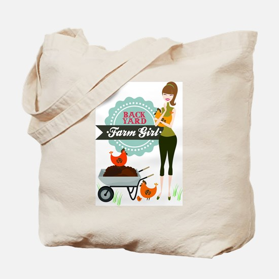 Backyard Farm Girl Tote Bag