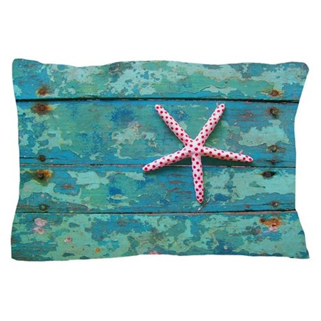 Starfish And Turquoise Pillow Case