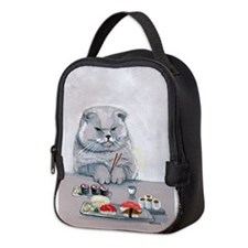 Sushi Cat- The Grump Neoprene Lunch Bag
