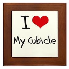 I love My Cubicle Framed Tile