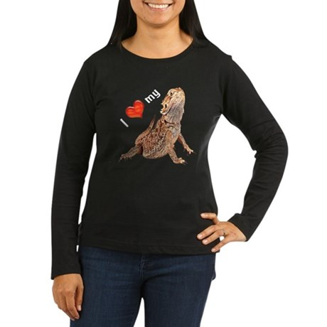 Women's Long Sleeve Dark T-Shirt (center)
