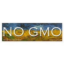 No GMO on a Van Gogh Bumper Bumper Sticker