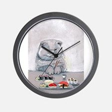 Sushi Cat- The Grump Wall Clock