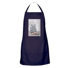 Sushi Cat- The Grump Apron (dark)