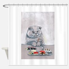 Sushi Cat- The Grump Shower Curtain