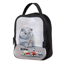 Sushi Cat- The Grump Neoprene Lunch Bag
