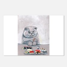 Sushi Cat- The Grump Postcards (Package of 8)