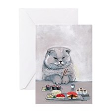 Sushi Cat- The Grump Greeting Card