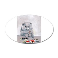 Sushi Cat- The Grump Wall Decal