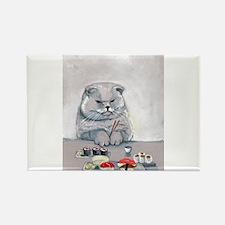 Sushi Cat- The Grump Rectangle Magnet