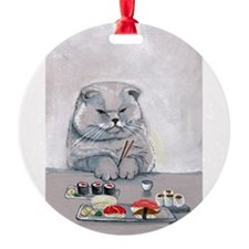 Sushi Cat- The Grump Ornament