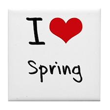 I love Spring Tile Coaster