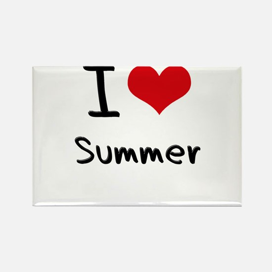 I love Summer Rectangle Magnet