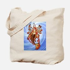 Orange Mermaid Tote Bag