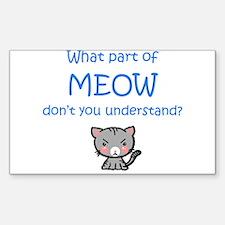Grumpy Meow Decal