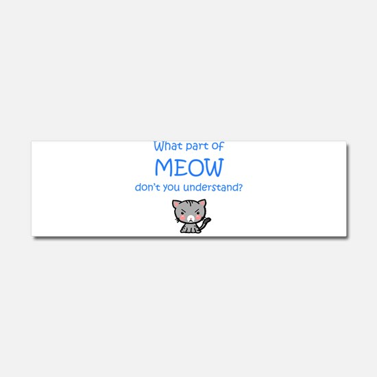 Grumpy Meow Car Magnet 10 x 3