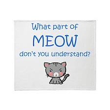 Grumpy Meow Throw Blanket