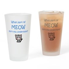 Grumpy Meow Drinking Glass