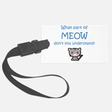 Grumpy Meow Luggage Tag