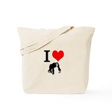 I Love Primates! Tote Bag