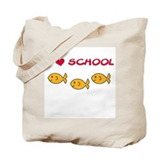I Love School Tote Bag