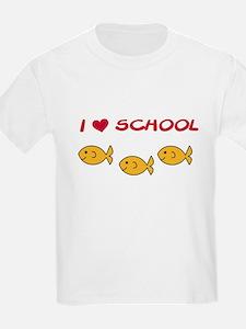 I Love School Kids T-Shirt