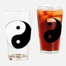 Cute Yin yang Drinking Glass