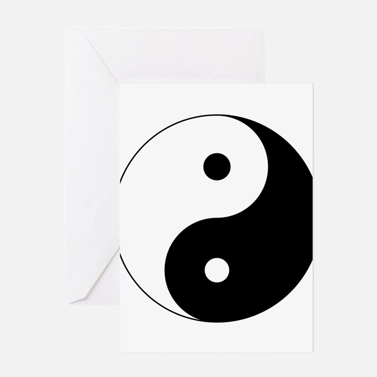 Cute Yin yang Greeting Card