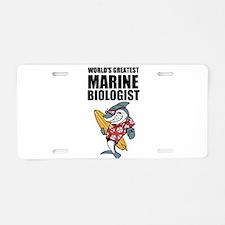 Worlds Greatest Marine Biologist Aluminum License