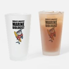 Worlds Greatest Marine Biologist Drinking Glass