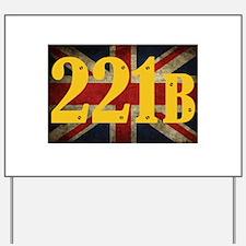 221B Flag Yard Sign