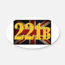221B Flag Oval Car Magnet