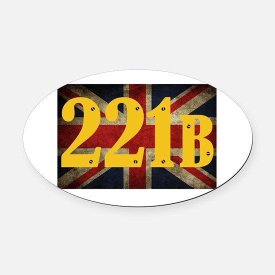 221B Flag Oval Car Magnet