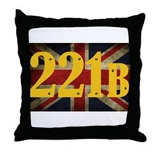 221B Flag Throw Pillow