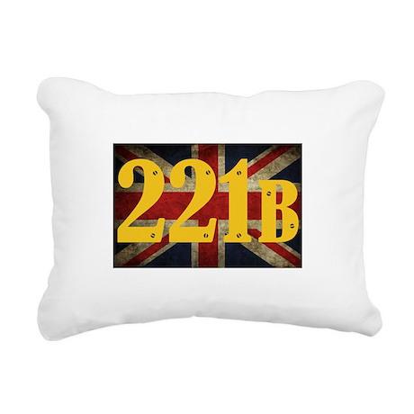 221B Flag Rectangular Canvas Pillow