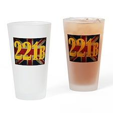221B Flag Drinking Glass