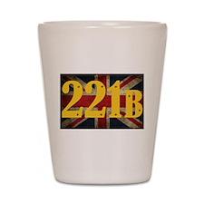 221B Flag Shot Glass