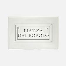 Piazza del Popolo, Rome - Italy Rectangle Magnet