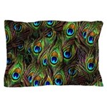 Peacock Feathers Invasion Pillow Case