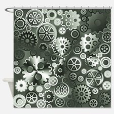 Steel gears Shower Curtain