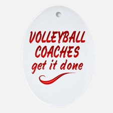 Volleyball Coaches Ornament (Oval)