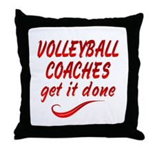 Volleyball Coaches Throw Pillow